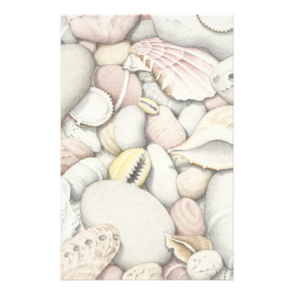 Sea Shells & Pebbles in Pencil Basic Stationery