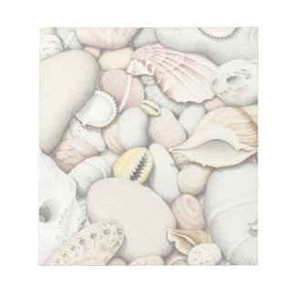 sea Shells & Pebbles in Pencil Notepad - 40 pages