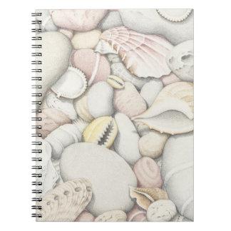 Sea Shells & Pebbles in Pencil Photo Notebook