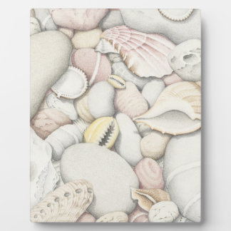Sea Shells & Pebbles Plaque - 8x10 With Easel