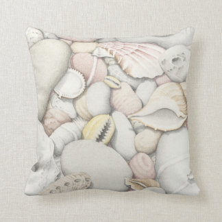 Sea Shells & Pebbles Polyester Cushion