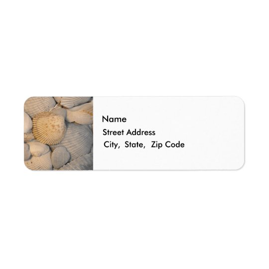 Sea Shells Return Label Return Address Label