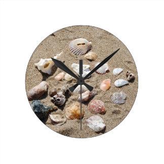 Sea shells. round clock