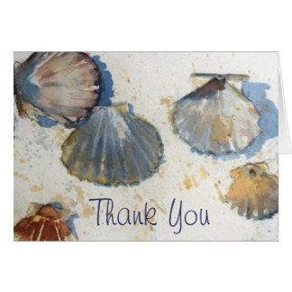 Sea Shells Thank You Card