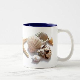 Sea Shells Two-Tone Coffee Mug