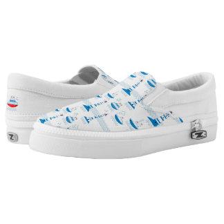 Sea, ships, lighthouses slip on shoes