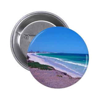 Sea shore 6 cm round badge