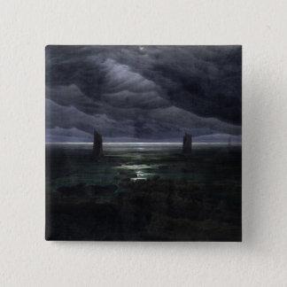 Sea Shore in Moonlight, 1835-36 15 Cm Square Badge
