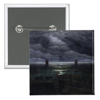 Sea Shore in Moonlight, 1835-36 15 Cm Square Badge