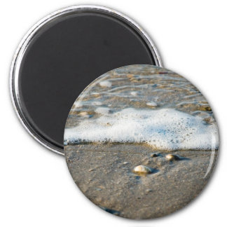 Sea side 6 cm round magnet