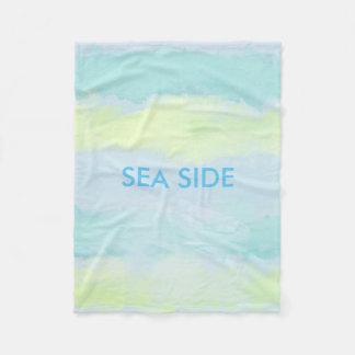 SEA SIDE BLUE Fleece Blanket, Small