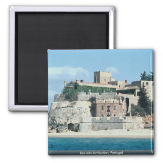 Sea-side fortification, Portugal Square Magnet