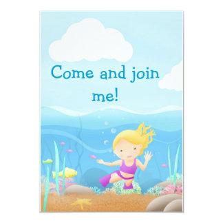 Sea side fun - party invites