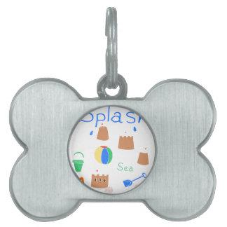 sea side pet name tag