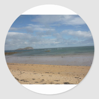 Sea Side Round Sticker
