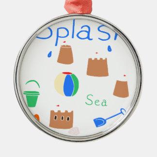sea side Silver-Colored round decoration