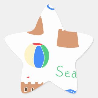 sea side star sticker