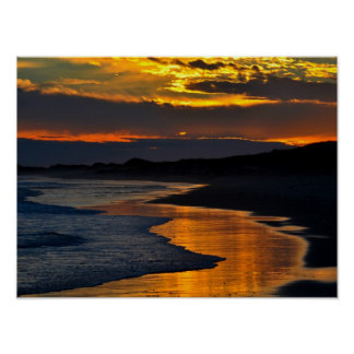 Sea Side Sunset Poster