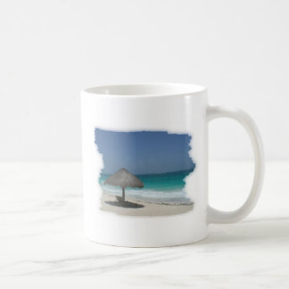 sea side view basic white mug