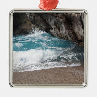 Sea Silver-Colored Square Decoration
