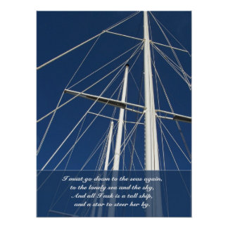 Sea & Sky Poem Ships Rigging Poster