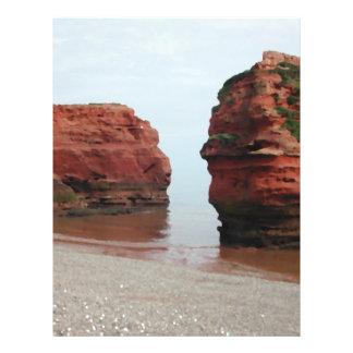 Sea Stack Rocks. Ladram Bay. Devon. UK. 21.5 Cm X 28 Cm Flyer