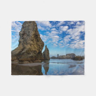 Sea Stacks on Bandon Beach in Bandon, Oregon 1 Fleece Blanket