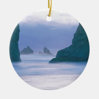 Sea Stacks Oregon Christmas Ornament