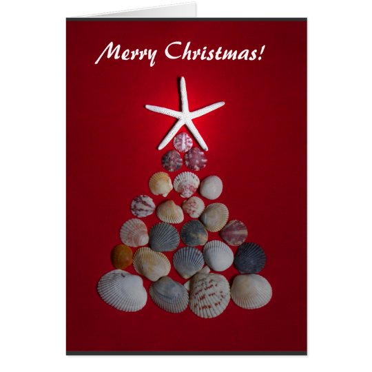 Sea Star Christmas Tree Card