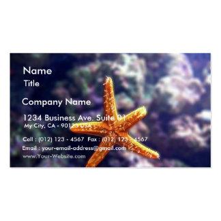 Sea Star In Aquarium Business Card Template