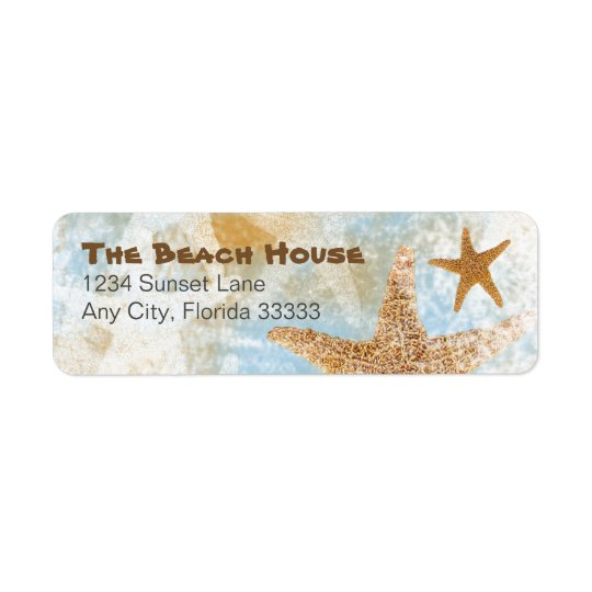 Sea Stars Starfish | Return Address Labels