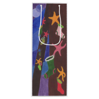Sea Stars & Stockings Wine Gift Bag