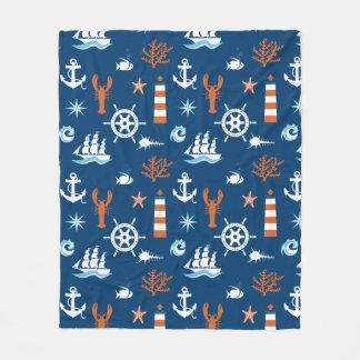 Sea Theme Pattern 1 Fleece Blanket