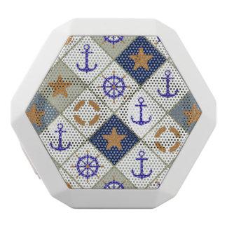 Sea Theme Pattern 2 White Bluetooth Speaker