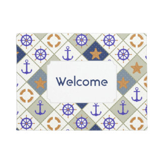 Sea Theme Pattern | Add Your Text Doormat