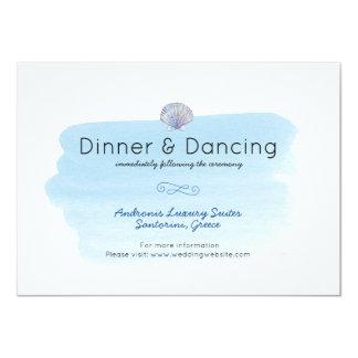 Sea theme Wedding reception Card