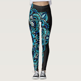 Sea Toned Mandala Leggings