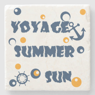 Sea, travel , summer stone coaster