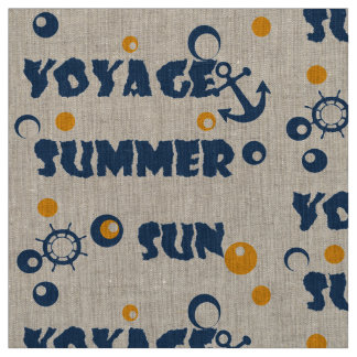Sea, travel , summer , sun fabric