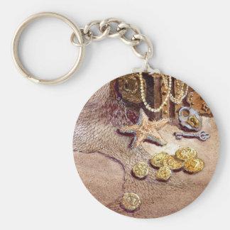 SEA TREASURES by SHARON SHARPE Basic Round Button Key Ring