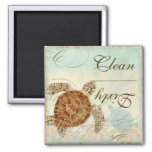 Sea Turte Coastal Beach - Dishwasher Magnet