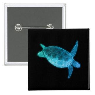 Sea Turtle 15 Cm Square Badge