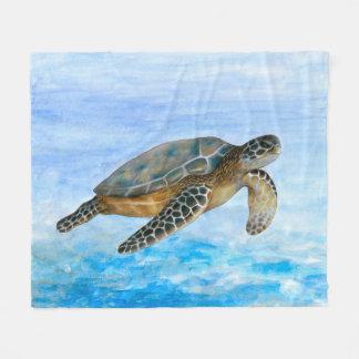 Sea Turtle 1 Fleece Blanket