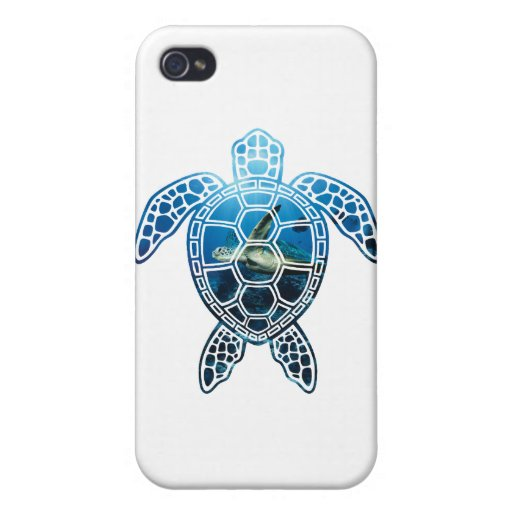 sea turtle-2 cover for iPhone 4