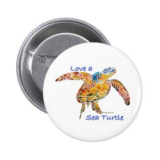 Sea Turtle 6 Cm Round Badge