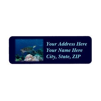 Sea Turtle Address Label