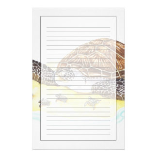 Sea Turtle and Babies Customized Stationery