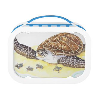 Sea Turtle and Babies Lunch Box