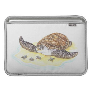 Sea Turtle and Babies MacBook Sleeve