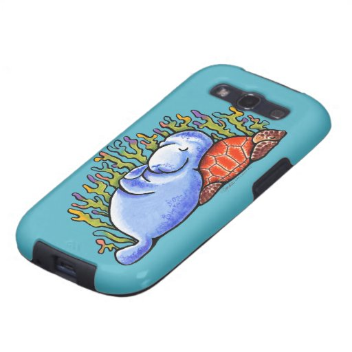 Sea Turtle and Manatee Slumber Party Samsung Galaxy S3 Cover